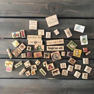 Other - HUGE bundle of ink stamps